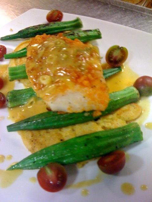 halibut_pork rind sorghum mustard bb