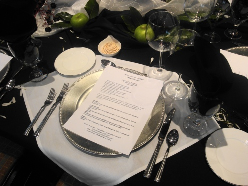 my menu & place setting